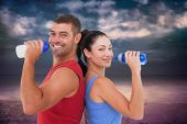 Fit man and woman — Stockfoto