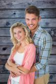 Couple smiling at camera — Stock Photo