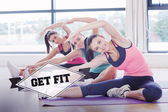 Get fit against badge — Stock Photo