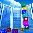 Composite image of app cubes — Stock Photo #69047429