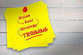Training buzzwords against sticky note — Stock Photo