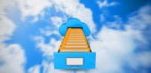 Composite image of cloud computing drawer — Stock Photo