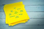 Diet plan against sticky note — Stock Photo
