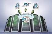 Composite image of cloud computing doodle — Stock Photo