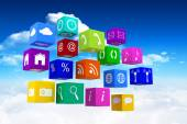 Composite image of app cubes — Stock Photo