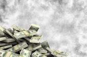 Composite image of pile of dollars — Stock Photo