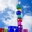Composite image of app cubes — Stock Photo #69051339