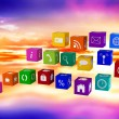 Composite image of app cubes — Stock Photo #69052949