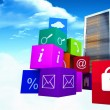 Composite image of app cubes — Stock Photo #69054085