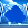 Cloud against server towers — Stock Photo #69054803