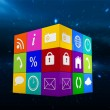 Composite image of app cube — Stock Photo #69058915