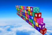 Composite image of wall of apps — Stock Photo