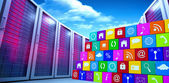 Composite image of app wall — Stock Photo