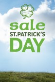 Composite image of st patricks day sale ad — Stock Photo