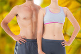 Mid section of a fit young couple — Stock Photo