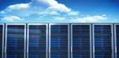 Composite image of server towers — Stock Photo