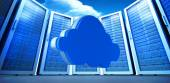 Cloud against server towers — Stock Photo