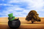 Zusammengesetztes Bild der Kobold Mütze — Stockfoto