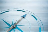 Composite image of compass — Stock Photo