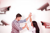 Aggressive man overpowering his girlfriend — Stock Photo