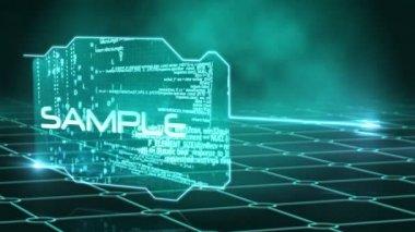 Tela mostrando chavões de tecnologia — Vídeo stock