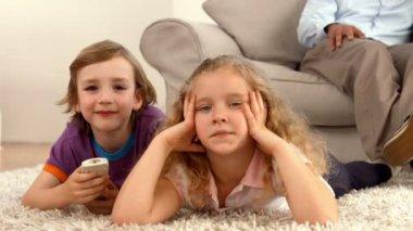 Cute siblings smiling at camera — Stock Video