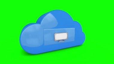 Cloud computing storage filing drawer — Stock Video