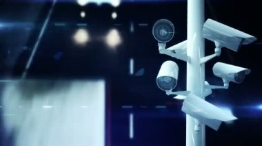 CCTV cameras over busy road — Stock Video