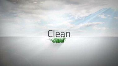 Environmental buzzwords with logo — Stock Video