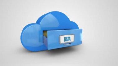 Data filing drawer — Stock Video