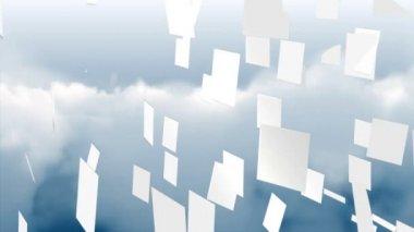 Cloud computing grafik — Stockvideo