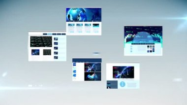 Different webpages showing stocks and shares — Stock Video