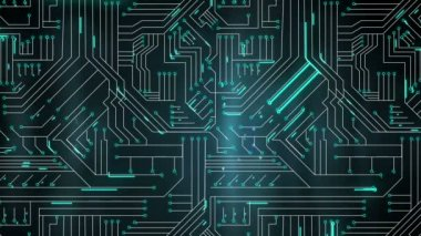Lines moving through circuit board — Stock Video
