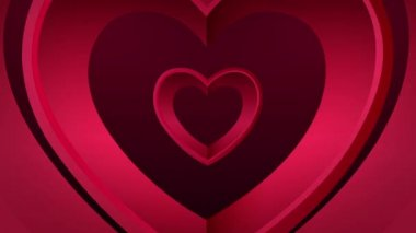 Looping heart tunnel of love — Stock Video