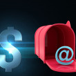 Composite image of red email post box — Stock Photo #73179321
