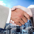 Business peoples hands shaking — Stock Photo #73183529