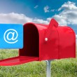 Composite image of red email postbox — Stock Photo #73187297