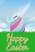 Grass against happy easter — Stock Photo