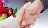 Nya partners att skaka hand — Stockfoto
