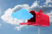Sammansatt bild av röd e-postbox — Stockfoto