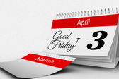 Cross with good friday and calendar — Stock Photo