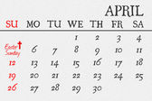 Easter symbols and calendar — Stock Photo