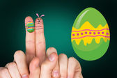 Fingers as easter bunny — Stock Photo