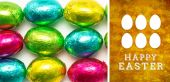 Composite image of happy easter graphic — Stock Photo