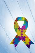 Composite image of autism awareness ribbon — Stock Photo