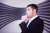 Frowning businessman thinking — Stock Photo