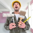 Manual worker holding various tools — Stock Photo #73202525