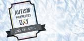 Immagine composita della giornata di sensibilizzazione di autismo — Foto Stock