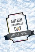 Composite image of autism awareness day — Stock Photo
