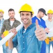 Architect gesturing thumbs up — Stock Photo #73222439